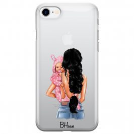 Mother Black Haired With Girl Coque iPhone 8/7/SE 2 2020
