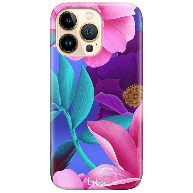 Pinky Floral Coque iPhone 13 Pro
