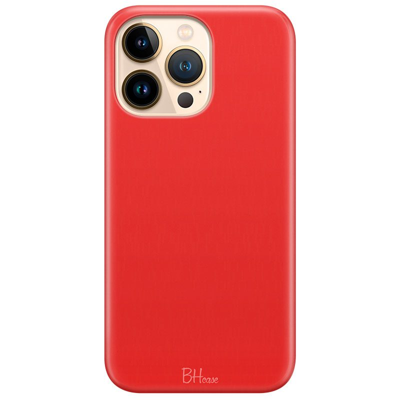 Red Apple Color Coque iPhone 13 Pro Max