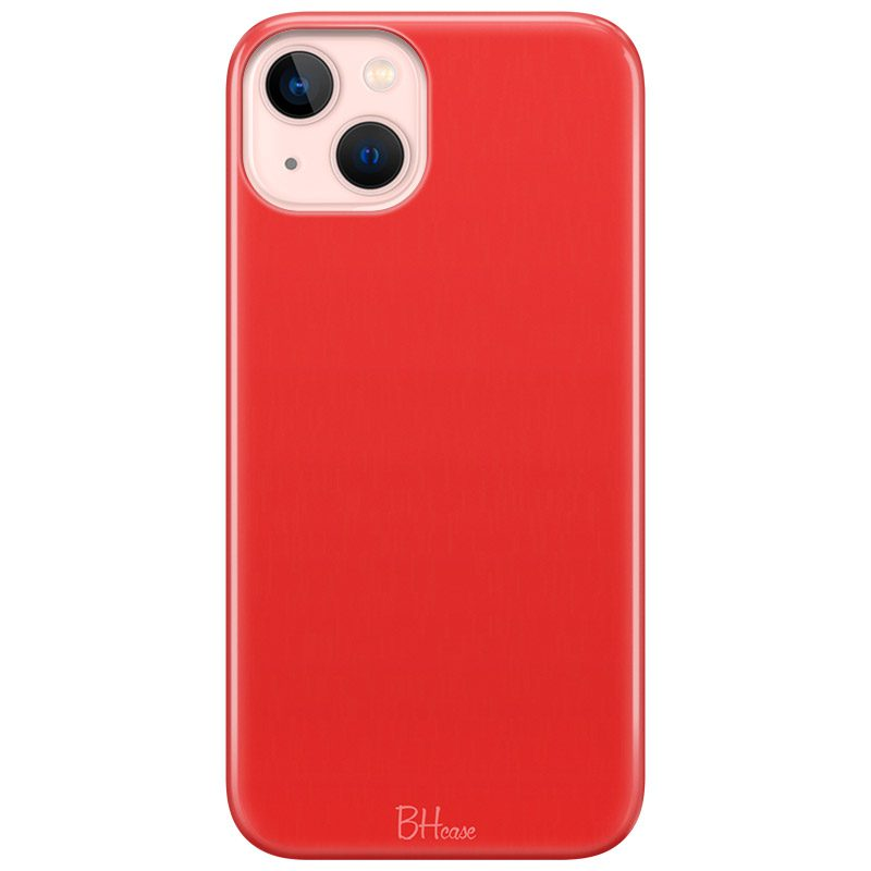 Red Apple Color Coque iPhone 13