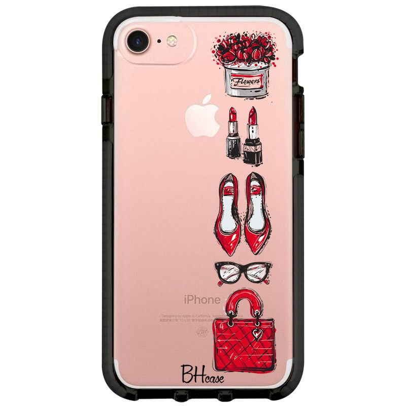 Red Fashion Coque iPhone 8/7/SE 2 2020