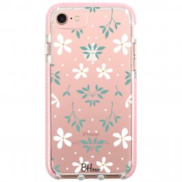 White Floral Coque iPhone 8/7/SE 2 2020