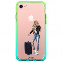 Woman Blonde With Baggage Coque iPhone 8/7/SE 2 2020