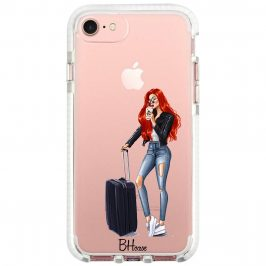 Woman Redhead With Baggage Coque iPhone 8/7/SE 2 2020
