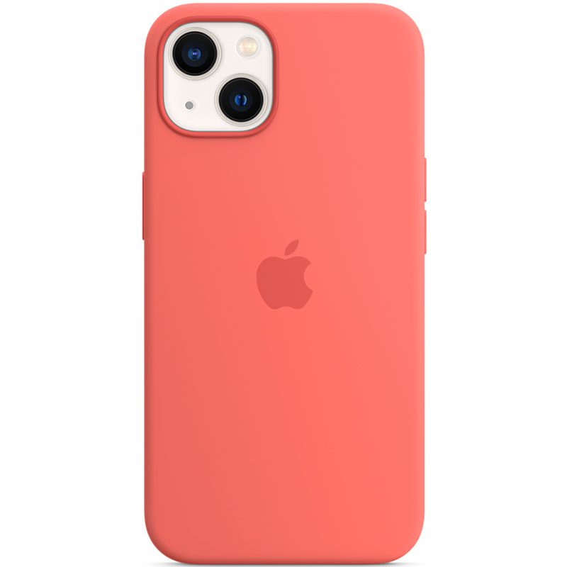 Apple Pink Pomelo Silicone MagSafe Coque iPhone 13